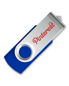 Black Twister USB stick with pinterest logo