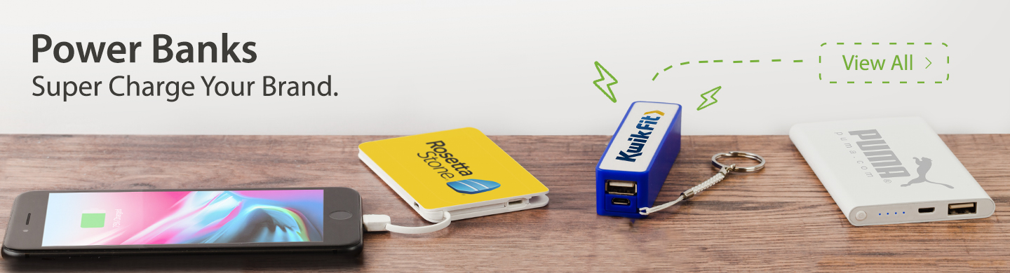 Promotional Power Banks for charging smartphones