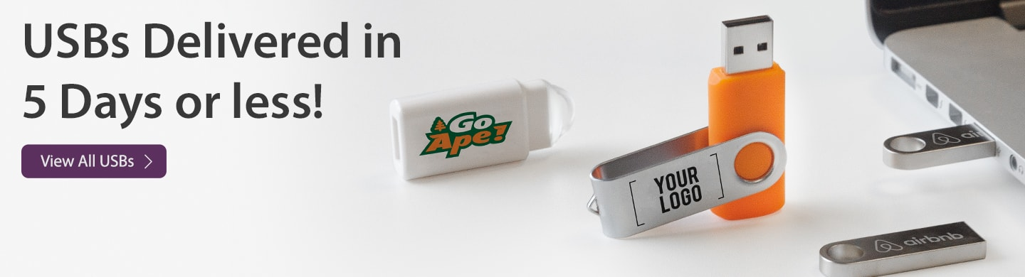 View our complete range of custom printed and engraved USB Sticks