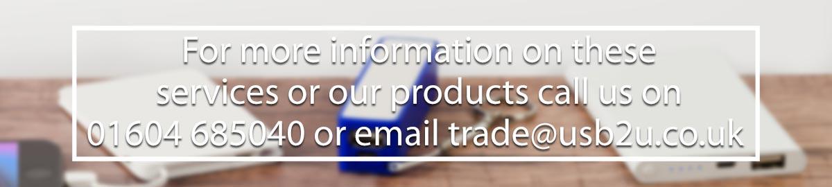 Email us on trade@usb2u.co.uk