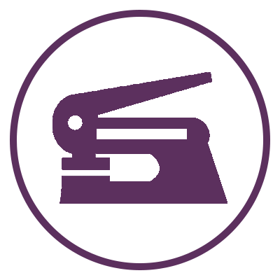 Embossing icon