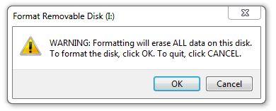 Erase USB Stick - USB Reformatting