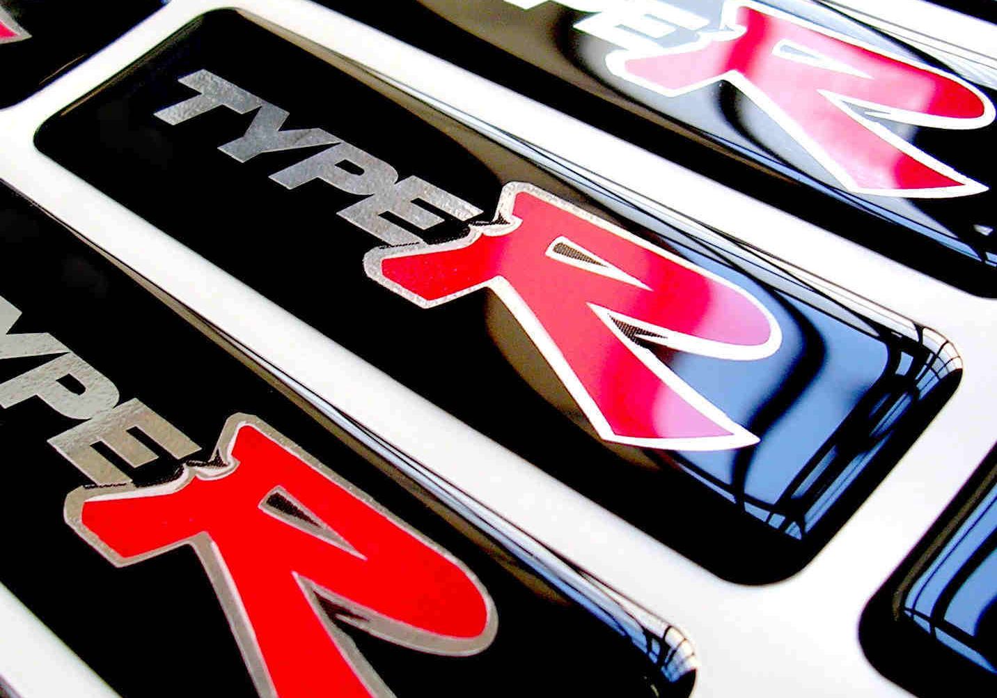 Type R Resin Dome Stickers